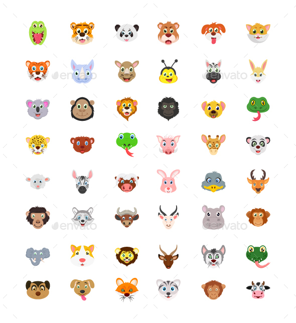 Set of Cute Animals - Icons