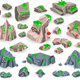 Rock Vector Collection Game Icons - GraphicRiver Item for Sale