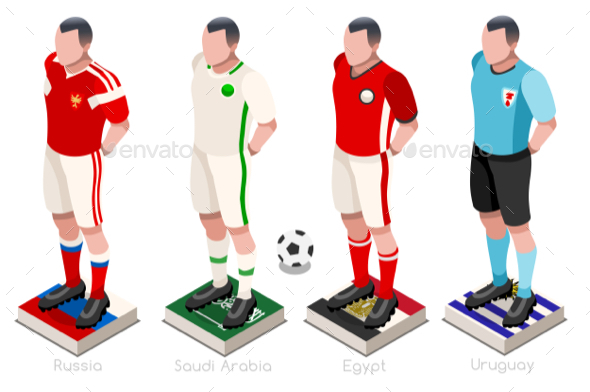 World Cup Soccer Shirts Vector - Vectors