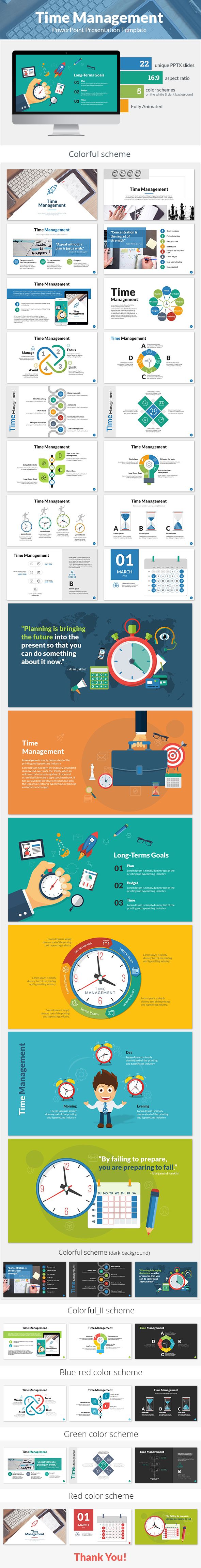 Time Management PowerPoint Presentation Template - PowerPoint Templates Presentation Templates