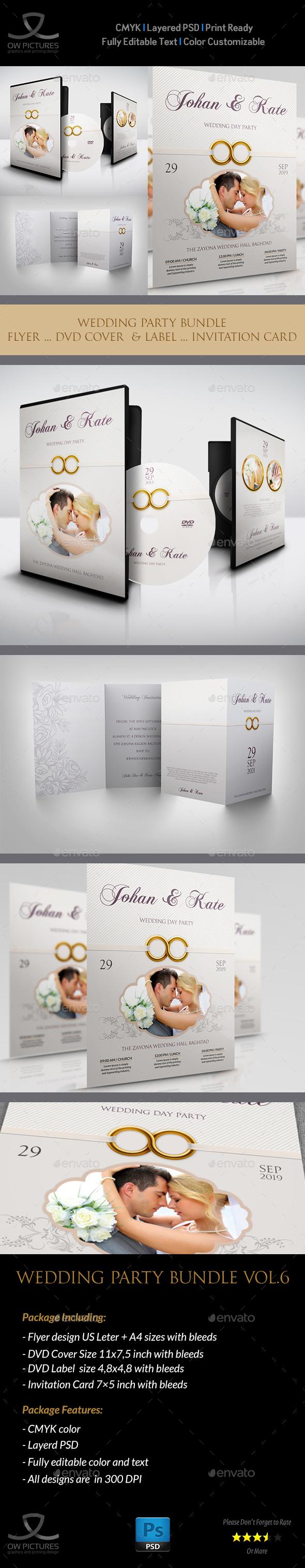 Wedding Party Bundle Vol.7 - Miscellaneous Print Templates