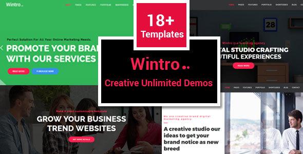 Wintro - Responsive Multi-Purpose HTML Template