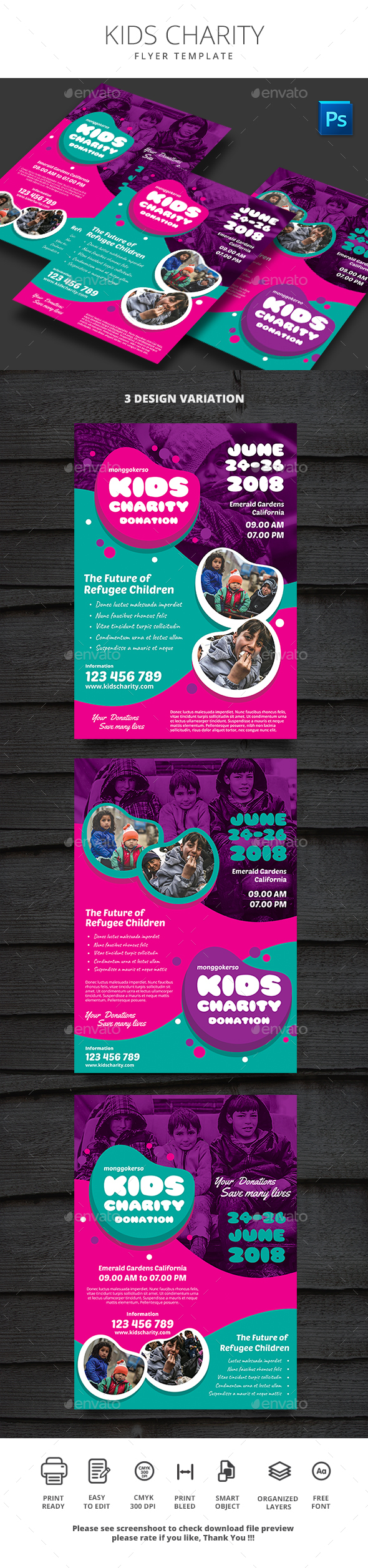 Kids Charity - Events Flyers