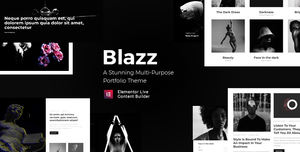 Blazz - A Contemporary Multi-Concept Portfolio WordPress Theme