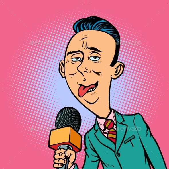 Weird Reporter Correspondent - Business Conceptual