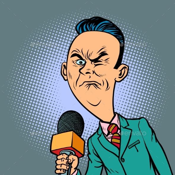 Wrinkled Nasty Bad Reporter Correspondent - Business Conceptual