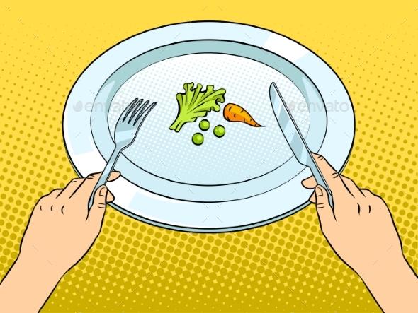 Run Bottle of Water Pop Art Vector Illustration - Food Objects