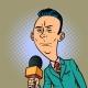 Calm Neutral Reporter Correspondent Journalist