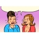 Girlfriend Women One Cries, Other Laughs - GraphicRiver Item for Sale