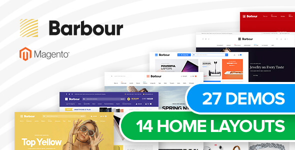 Barbour - Multi-Purpose Responsive Magento 2 and Magento 1 Theme - Magento eCommerce