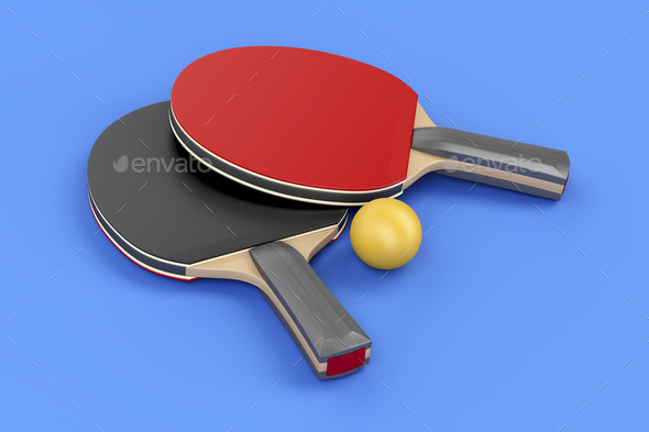 Ping pong equipment - Stock Photo - Images