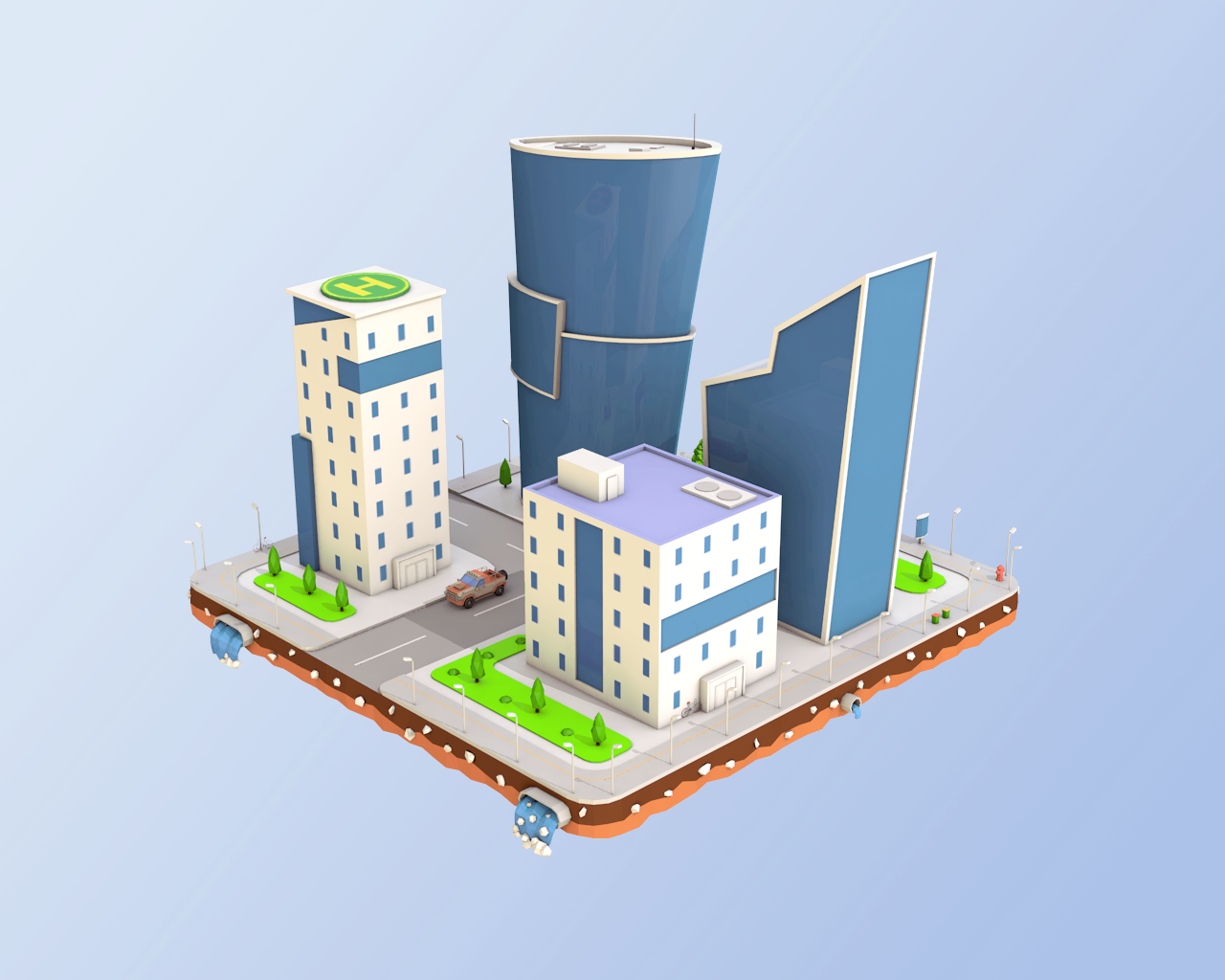 Low Poly Business Center