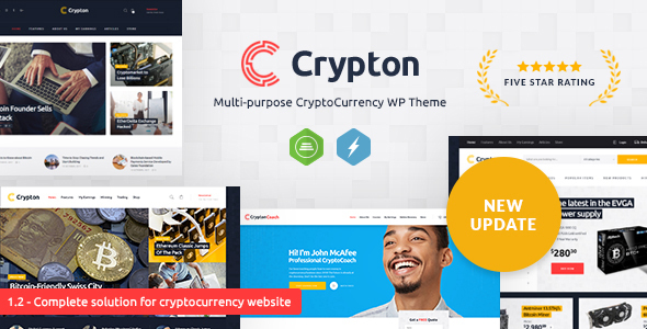 Crypton | Multi-Purpose Cryptocurrency WP Theme