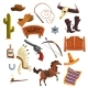 Wild West Elements Set, Cowboys Accessories - GraphicRiver Item for Sale