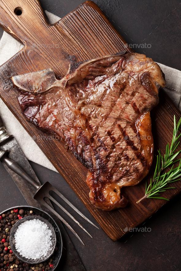 T-bone steak - Stock Photo - Images