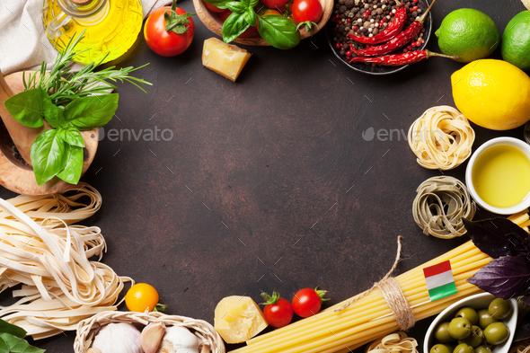 Italian food. Pasta ingredients - Stock Photo - Images