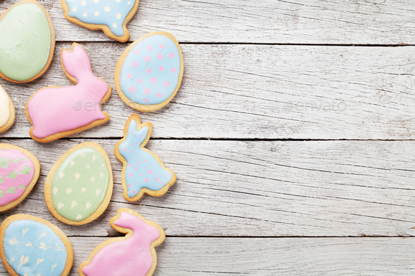 Easter gingerbread cookies - Stock Photo - Images