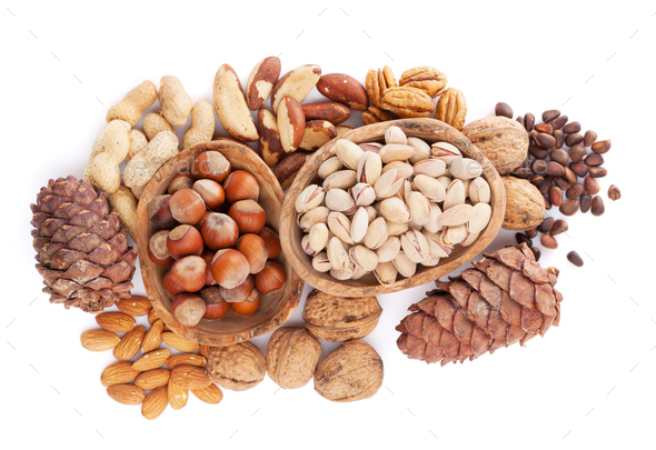 Various nuts - Stock Photo - Images
