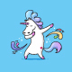 Dabbing Unicorn - GraphicRiver Item for Sale