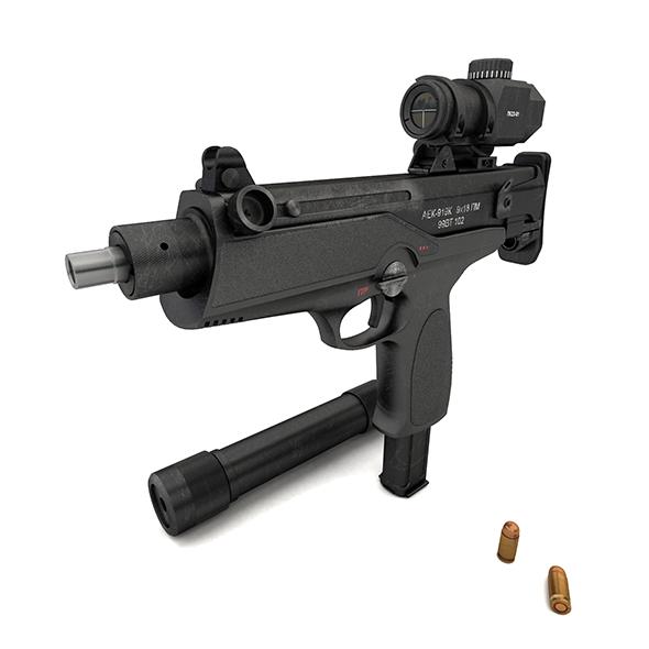 """submachine gun AEK-919K """"Kashtan"""" - 3DOcean Item for Sale"""
