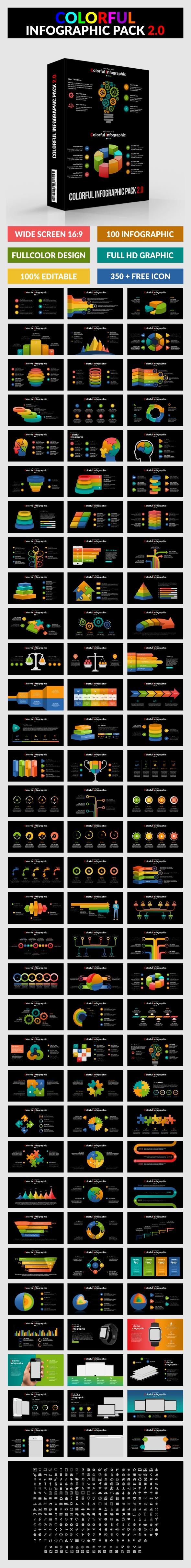 Colorful Infographic Pack 2.0 - Google Slide - Google Slides Presentation Templates