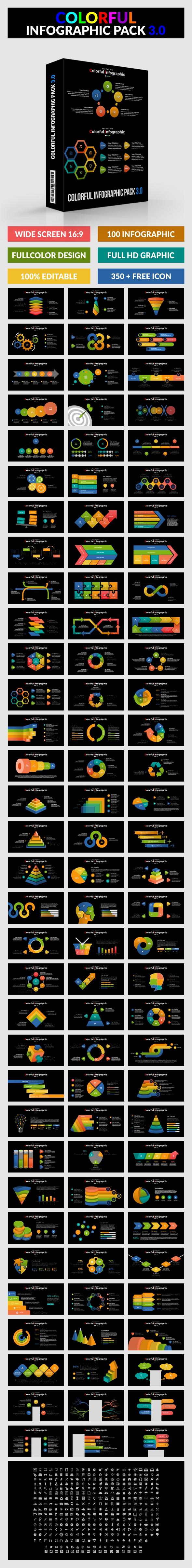 Colorful Infographic Pack 3.0 - PowerPoint - PowerPoint Templates Presentation Templates
