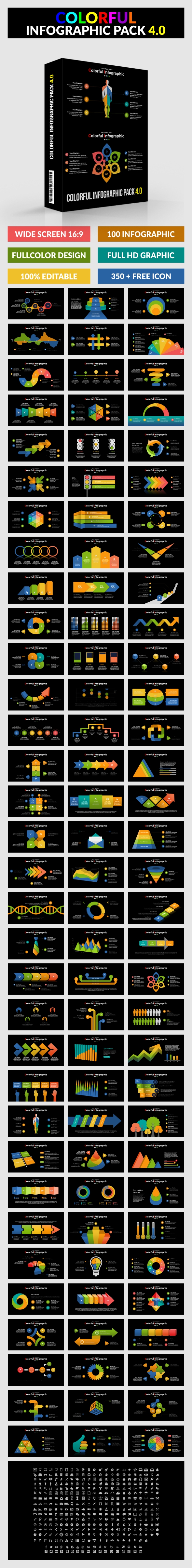 Colorful Infographic Pack 4.0 - PowerPoint - PowerPoint Templates Presentation Templates