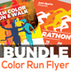 Color Run Event Flyers Bundle
