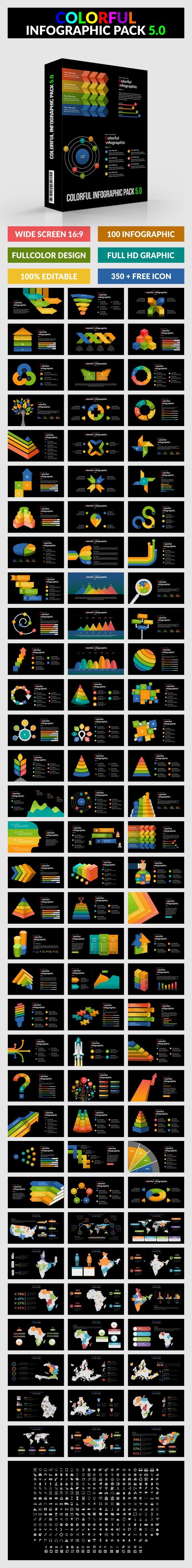 Colorful Infographic Pack 5.0 - Google Slides - Google Slides Presentation Templates
