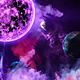 Abstract Nebula in Space with Big Purple Star and Planets and Energy Flares - VideoHive Item for Sale