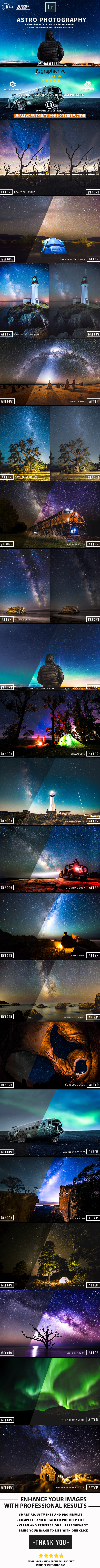 20 Pro Astrophotography Lightroom Presets - Lightroom Presets Add-ons
