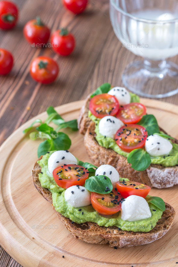 Sandwiches with avocado - Stock Photo - Images