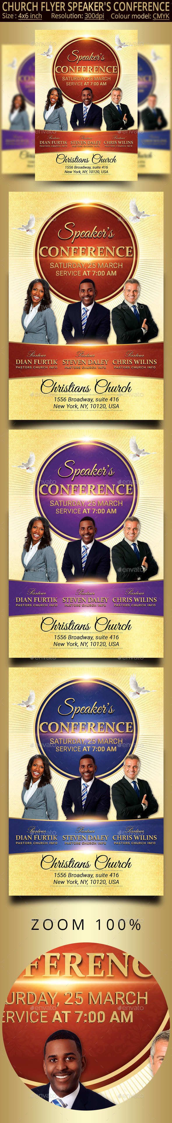 Speaker's Conference Church Flyer - Church Flyers