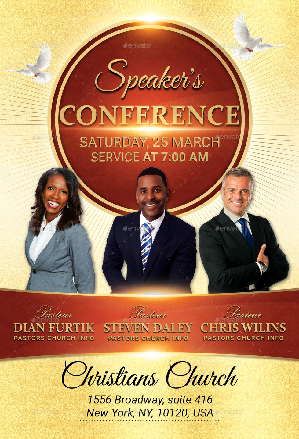 speaker u0026 39 s conference church flyer by oloreon