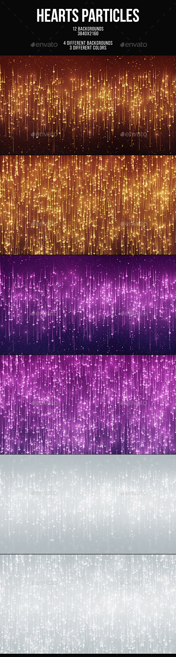 Hearts Particles Backgrounds - Abstract Backgrounds