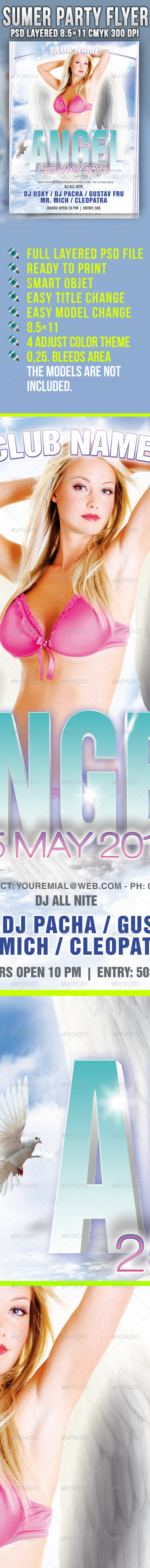 Angel Party Flyer - Clubs & Parties Events