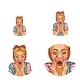Vector Pop Art Avatar Shouting