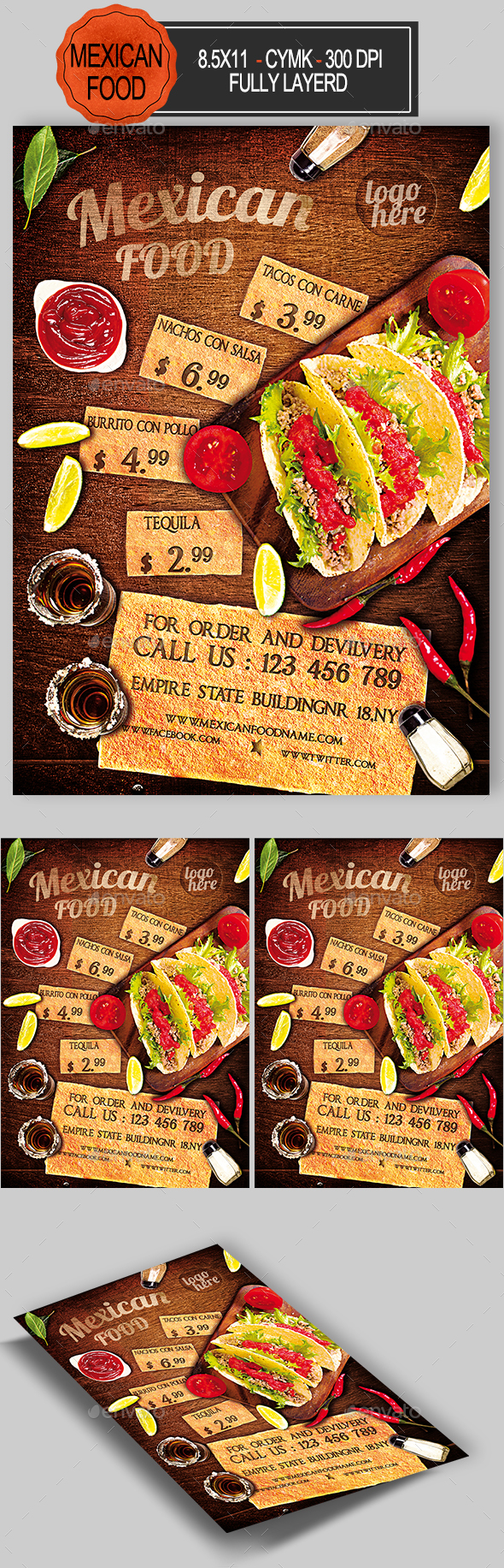 Mexican Food Flyer - Events Flyers