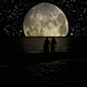 Lovers Couple Walking Under the Moonlight - VideoHive Item for Sale