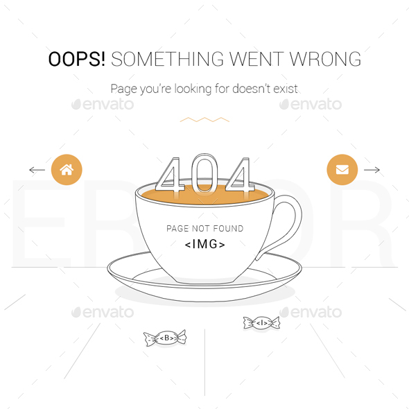 Animated 404 Error Page - 404 Pages Web Elements