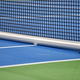 Tennis blue hard court with net before competition - PhotoDune Item for Sale