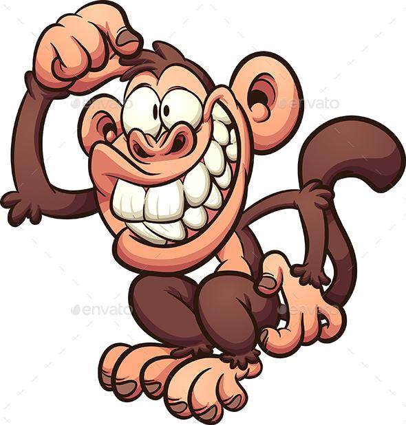 cartoon monkey by memoangeles graphicriver rh graphicriver net cartoon monkey pictures clip art cartoon monkey pictures free