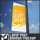 Rectangle Lamp Post Banner Mock-Up - GraphicRiver Item for Sale