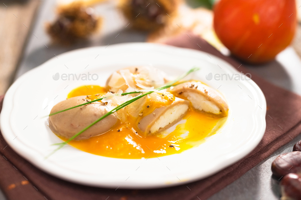 Chestnut gnocchi  - Stock Photo - Images