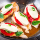 Chicken breast stuffed with mozzarella  basil and tomatoes
