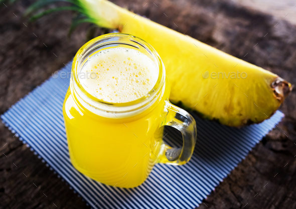 Pineapple juice - Stock Photo - Images