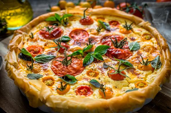 Tomato pie - Stock Photo - Images