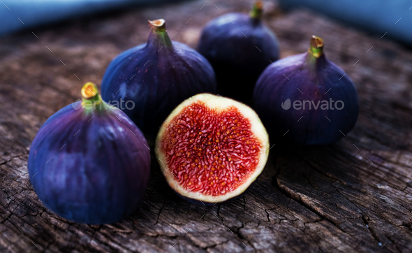 Delicious fresh figs - Stock Photo - Images