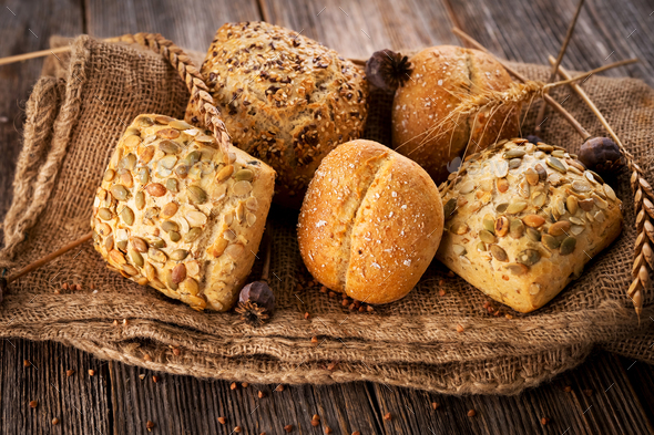 Various types of bread - Stock Photo - Images