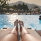 Beautiful Woman Legs Near Swimming Pool - VideoHive Item for Sale